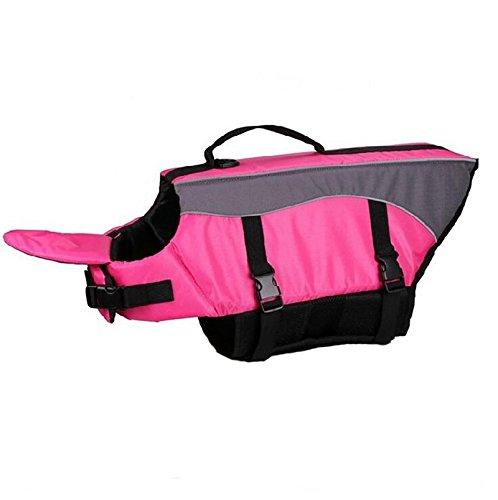 Preserver Pet Aquatic Dog - OCSOSO Life Jackets for Dogs Reflective Pet Preserver Aquatic Safety Vest waterproof swimwear(Pink M).