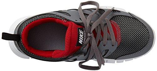 Nike Free Run 2 Unisex-Kinder Laufschuhe Grau (Wolf Grey/Black-Gym Red-White 035)