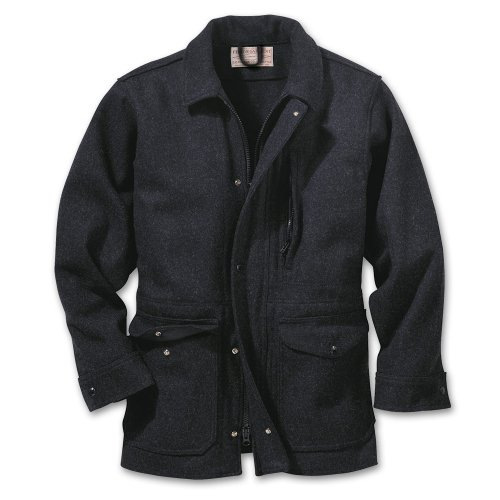 Filson Yukon Wool Jacket- Charcoal (Medium, Charcoal)