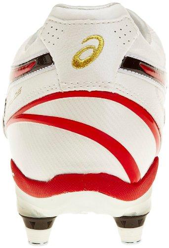 Asics Lethal DS 3 St, Scarpe da Rugby Uomo Bianco (White/Red/White)