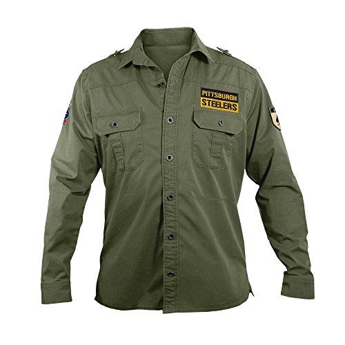 NFL Pittsburgh Steelers Men's Military Field Shirt, XL