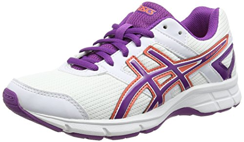 ASICS Gel-Galaxy 8 Gs - Zapatillas de correr para niños Blanco (White/Grape/Living Coral 0136)