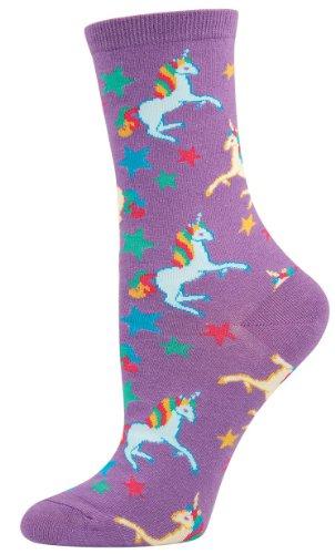 Sock Smith Adult Unicorn Socks-Bright Purple-Medium