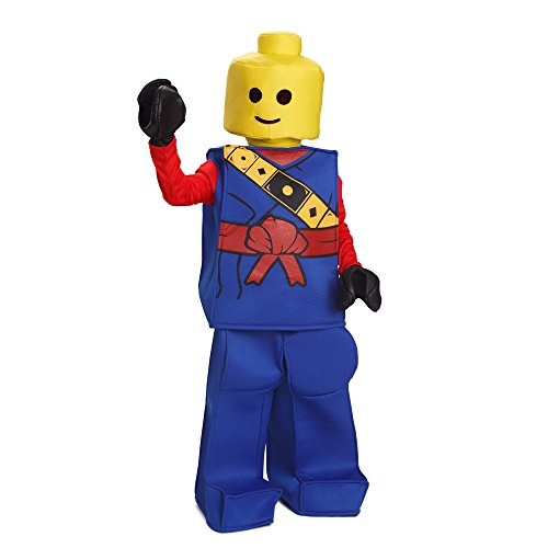 [Dress Up America Halloween Kids Lego Toy Block Ninja Man Costume Outfit Blue] (Lego Ninja Costume)