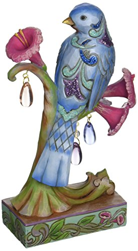 - Jim Shore Heartwood Creek Spring Wonderland Bird Stone Resin Figurine, 6.75