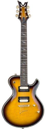 Dean Deceiver Flame Top Electric Guitar, Transparent Brazilburst