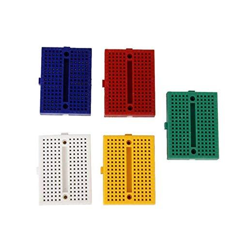 caijianscvx Tablero de prueba del Circuito SYB-170 Mini color sin soldadura prototipo Breadboard PCB Placa protoboard universal Herramientas de bricolaje del tablero de pan reutilizable Multi-color