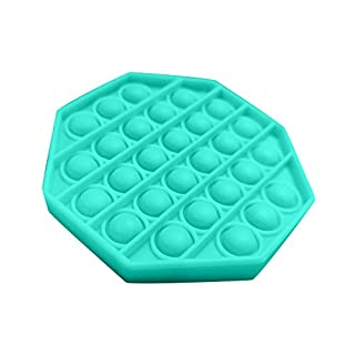 MANDIY Silicone Push Pop Pop Bubble Sensory Fidget Toy Extrusion Push Bubble Fidget Sensory Toy, Autism Special Needs Stress Reliever, Anxiety Relief Toys for Adults and Children #08 Octagon-Green