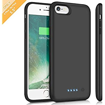 Battery Case for iPhone 6s Plus/6 Plus, Upgraded 8500mAh Portable Charging Case Extended Battery Pack for iPhone 6Plus & 6s Plus Rechargeable Charger Case ...