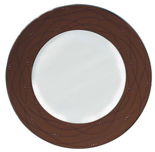 Royal Doulton Precious Platinum 9-Inch Accent Plate, Cocoa