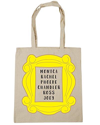 HippoWarehouse Phoebe Rachel Monica Joey Chandler Ross en marco bolsa de la compra bolsa de playa 42cm x38cm, 10litros Natural
