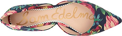 Sam Edelman Frauen Rodney Ballet Flat Navy Multi Vivid Bouquet Print Stoff