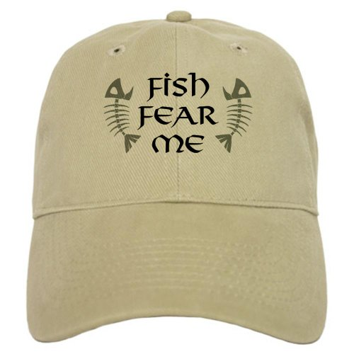Hat Saltwater Fishing - CafePress - Fish Fear Me Cap - Baseball Cap with Adjustable Closure, Unique Printed Baseball Hat