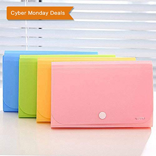 Expanding File Folder,izBuy Subdivision Accordion File Folder Mini Organizer PP Wallet for Cards,Coupons, Receipt,Tax Item or Changes,7x4.5 Inches,12 Pockets with Tabs And Snapper,Color Random (5561) ()