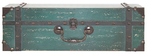 Review MCS 45887 Vintage Suitcase Wall Shelf In a Distressed Aqua By MCS by NEWCOMERS