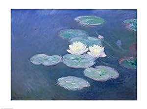Claude Monet – Nenúfares al atardecer Artistica di Stampa (60,96 x 45,72 cm)