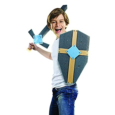 STEM Real Construction Sword and Shield Building 48 Piece Set: Toys & Games