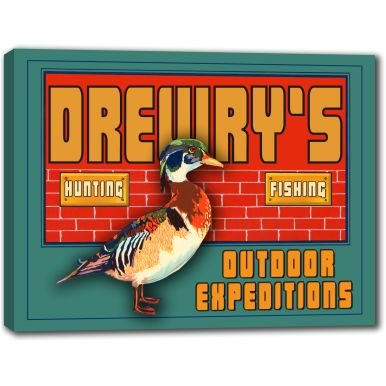 drewrys-outdoor-expeditions-stretched-canvas-sign-24-x-30