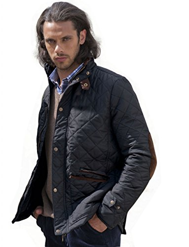 VEDONEIRE Herren Steppjacke (3039) gepolsterten mantel blau schwarz marine herrenjacke wattierte jacke (XL (brustumfang im zoll 44-46))