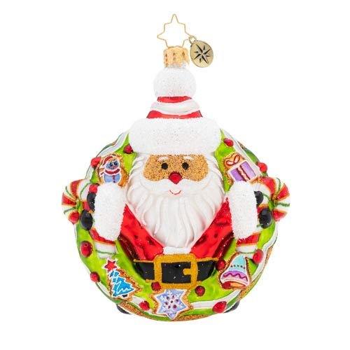 Christopher Radko Candy for All Christmas Ornament, White, Green