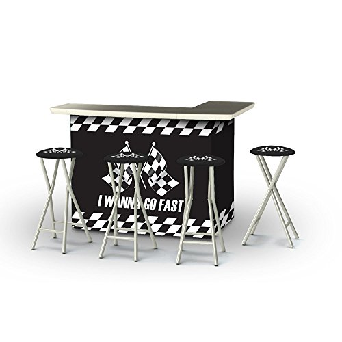 Best of Times Portable Patio Bar Table with Stools, I Wan...