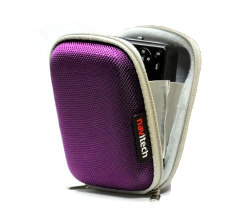 Navitech Purple Hard Water Resistant Case / Cover for mp3 digital audio player for CFZC RUIZU X06