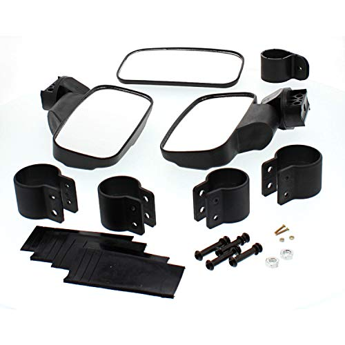 - Black UTV Side & Rear View Mirror Kit for Honda Big Red 700, Pioneer 500 550 700 1000, Polaris Ranger 500 800 900 1000, General 1000, Can-Am Maverick 800 900 1000, Commander 1000 800 Electric