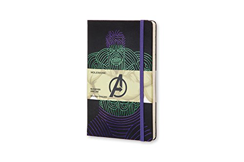 Moleskine The Avengers Limited Edition Notebook, Large, Ruled, Black, Hulk, Hard Cover (8055002852715)