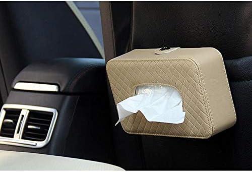Xinlie Kosmetiktücherbox Taschentuchbox Auto Sonnenblende Leder Tissue Box Halter Clip Auto Zubehör Halter Auto Interieur Geschenk Für Kosmetiktücher Tissue Cover Halter 8 26 4 7 2 48 Zoll Beige Auto