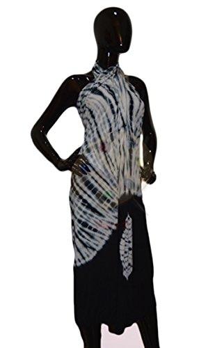 Little Black Convertible Dress (Hipknoties - The Convertible Whit Maxi dress White Tiedie hippi dress convertible wrap dress white and black Casual beach dress Formal white wedding dress - White Tiedye)
