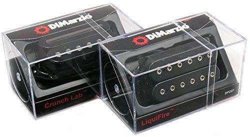 DiMarzio LIQUIFIRE & CRUNCH LAB Regular-spaced Humbucker Guitar Pickup Set, BLACK DP227 & DP228