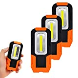 Battery Operated Magnetic COB LED Pocket Inspection Work Light Portable LED Torch Light