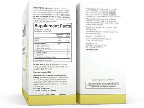 SeroVital Rapid Dissolve Powder, 30 Ct, Tropical Mix 4