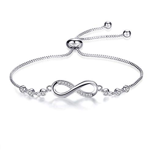 (LittiL Women Adjustable Bracelets for Girl Endless Love (White))