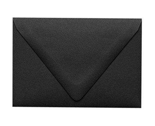 Black Contour Flap Envelopes on 80 lb. - 50 per pack (A9 - 5 3/4 x 8 3/4)