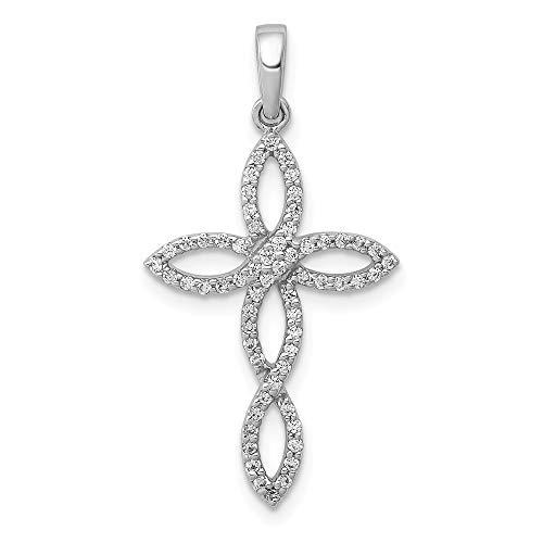14k White Gold 1/4ct. Diamond Pendant ()