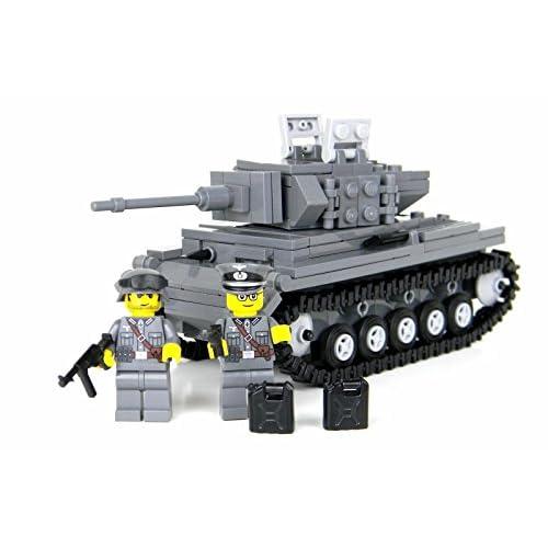 Deluxe German Panzer IV - Battle Brick Custom Set low-cost
