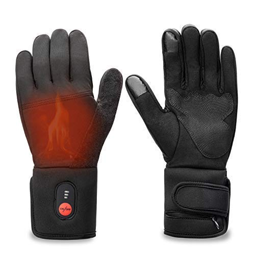 Heated Gloves Men Women,Electric Rechargeable Battery Gloves Hand Warmer for Skiing Riding Snow Work Athritis Raynaud's ()