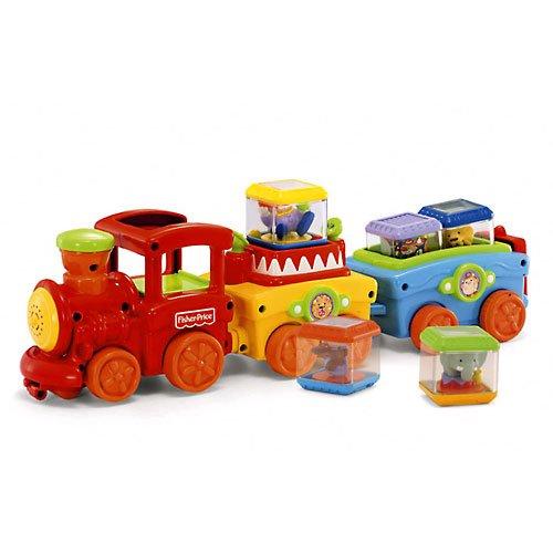 - Peek-a-Blocks Press and Go Train