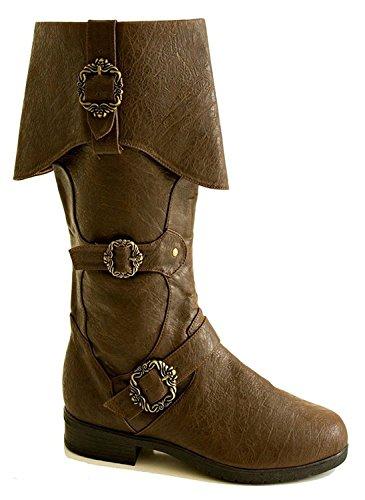 Steampunk Western Medieval Renaissance Halloween Cosplay Super Hero Mens Boots (Small (8-9)) (Mens Renaissance Boots)