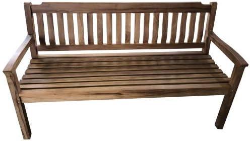 Wohnpalast Liverpool - Banco de jardín (140 cm, Madera de Teca): Amazon.es: Jardín