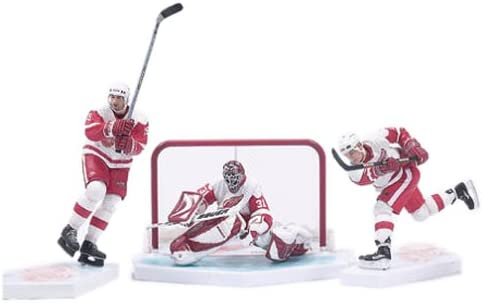 B00008MIH2 Mcfarlane Toys Hockey Action Figures Box Set Detroit Red Wings White Jersey 41WCPR560GL.
