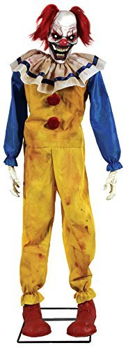 Twitching Clown Animated Prop Lifesize 6 Ft Animatronic Halloween Evil Scary