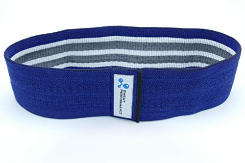 SWEAT PERFORMANCE Hip Resistance Band with Name Tag - Non Slip, Durable Design - Best Way to Target Glutes and Abductors