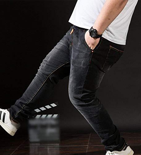 Cintura Mezclilla para Jeans Pantalones Mezclilla De Mezclilla Moda Negro De Súper Fit De Pantalones De Mezclilla Alta Hombre De Slim Stretch Vintage De T Pantalones tqzwCnHzr