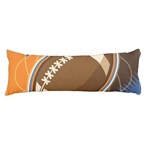 UOOPOO American Football Sport Ball Game Typography Polyester Body Pillow Cover Square 20 x 54 Inches for Bed Print on Twin Sides