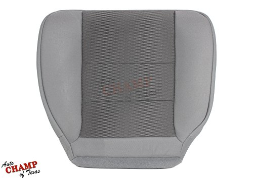 Auto Champ Of Texas: Compatible With - 2003-2007 Ford F250 F350 XLT Quad-Cab -Driver Side Bottom Cloth Seat Cover Gray ()