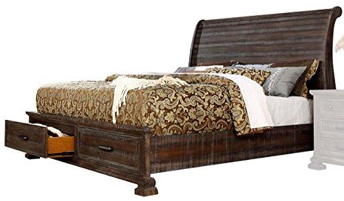 - Camelot Storage Bed Rustic Look (Queen)