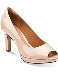 CLARKS Delsie Britta Womens Dress Peep Toe Pumps