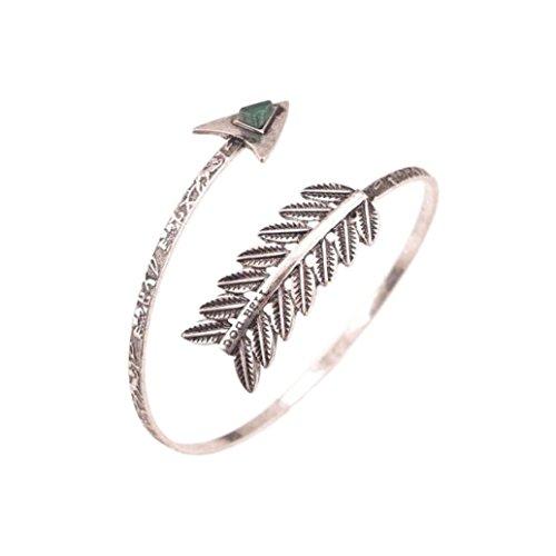 Dance Armband - Women Simple Bracelet Swirl Spiral Armband Arm Cuff Armlet Upper Stone Bangle Bracelet Armband (Silver)